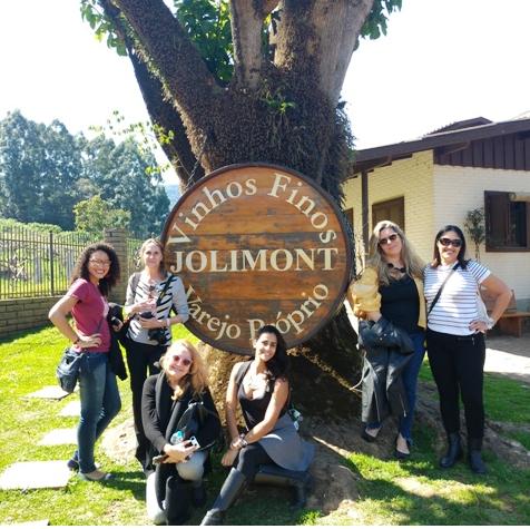 Mulheres Mundo Afora no Tour da Vinícola Jolimont, em Canela, nas Serras Gaúchas