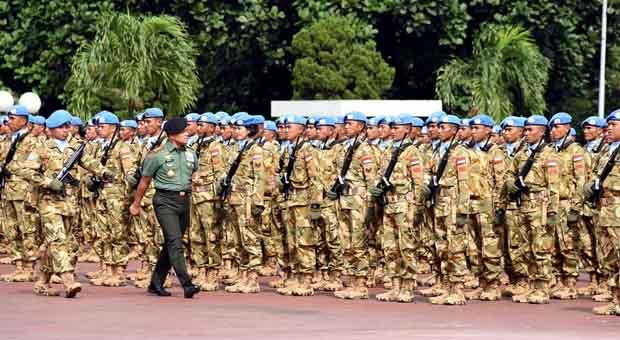 Pasukan Garuda Junjung Tinggi Kehormatan Bangsa