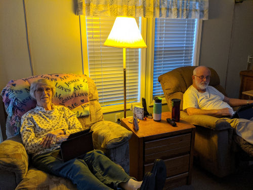 couple in yellow lamp light
