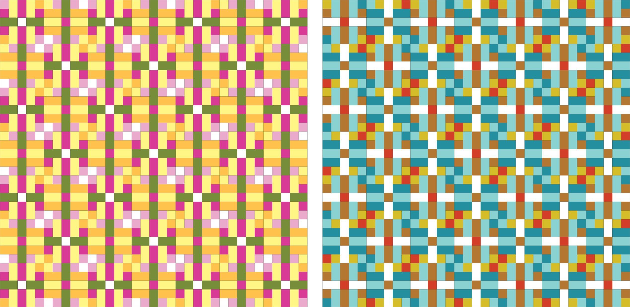 colourways for Lockstep quilt