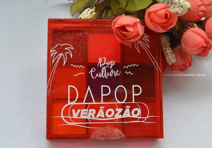 paleta de sombras verãozão pop culture Dapop