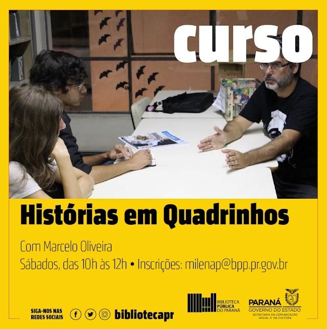 Biblioteca Pública do Paraná oferta curso de histórias em quadrinhos