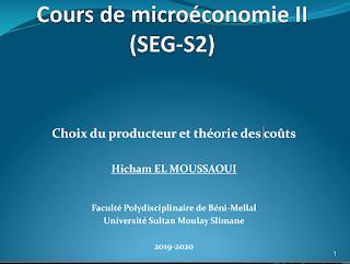 Cours Microéconomie s2 - Producteur