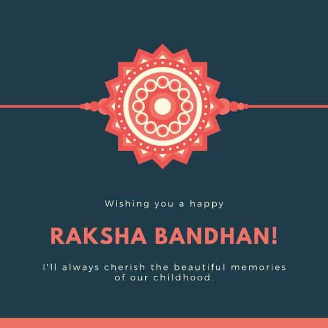 raksha bandhan good wishes