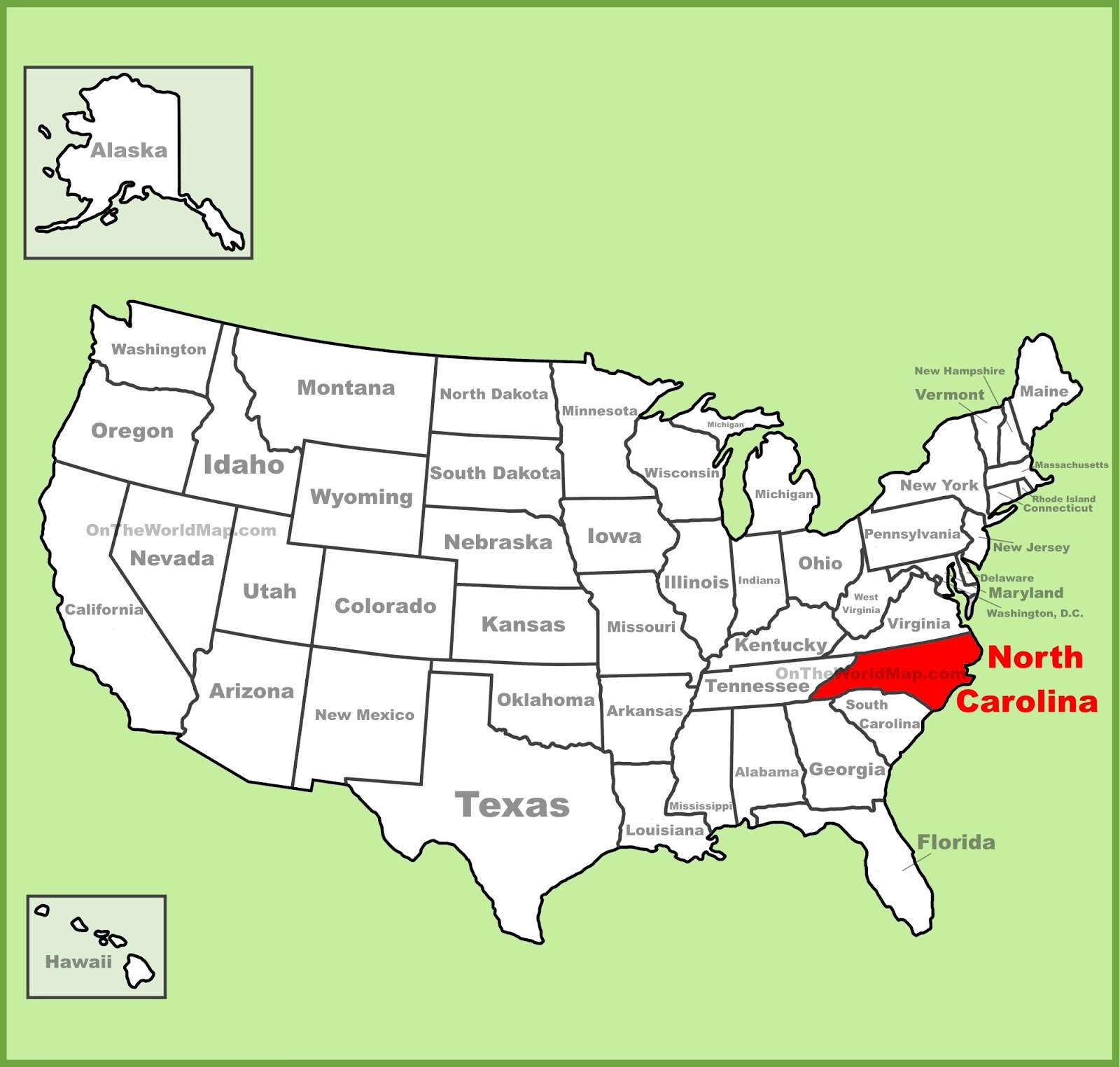 Map Of North Carolina State Map Of USA - United stated map