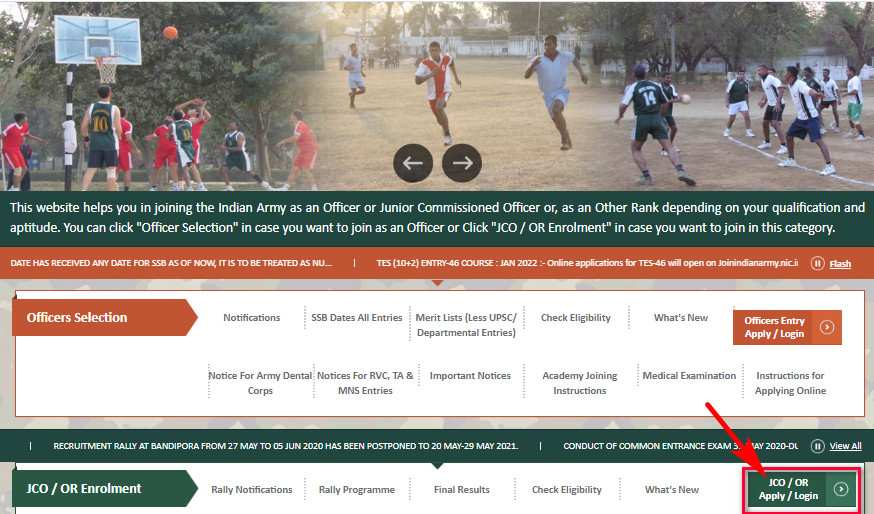 Jorhat Mariani Army Recruitment Rally 2020 Notification