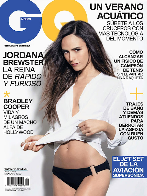 the magazine stand jordana brewster and sexy back appear in the latest issue of gq mexico. Black Bedroom Furniture Sets. Home Design Ideas