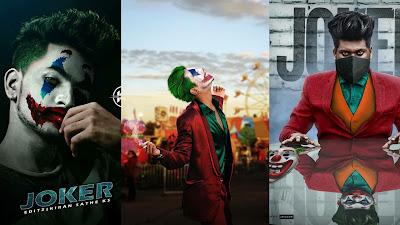 Joker face editing png
