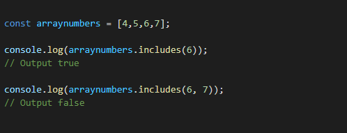 7. Use includes() Function,