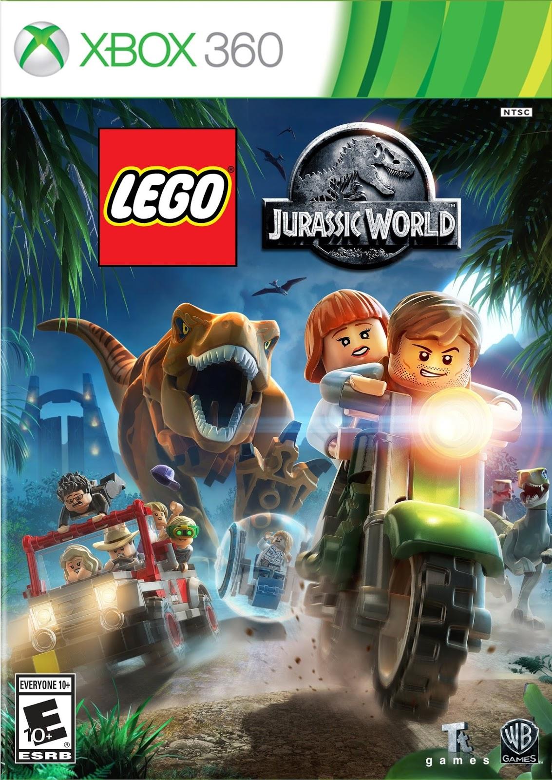 LEGO Jurassic World ESPAÑOL XBOX 360 Region FREE Cover Caratula