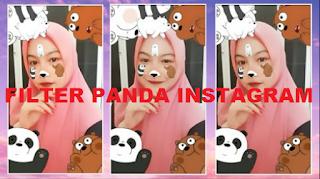 Filter ig panda | Filter ig viral untuk mendapatkan gambar Panda di wajah