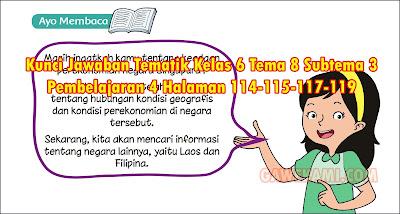 Materi dan Kunci Jawaban Tematik Kelas 6 Tema 8 Subtema 3 Halaman 114-115-117-119