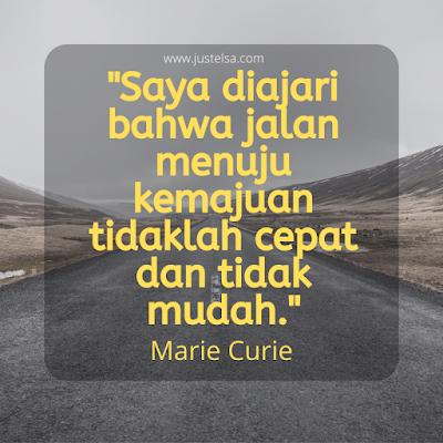 Quote Motivasi Marie Curie