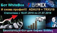 WhiteBox бот - И снова профит! Статистика с 18.07 по 21.07.2019 года