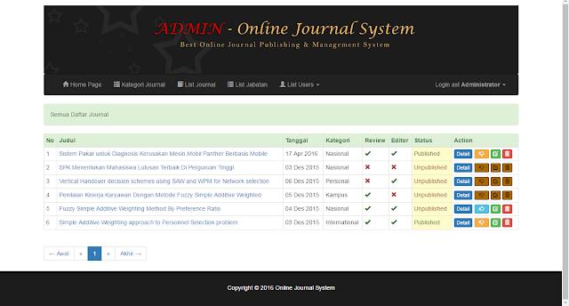 Download Gratis OJES - open journal management system V.1 responsive