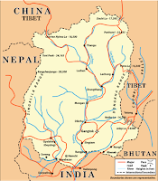 Sikkim area map