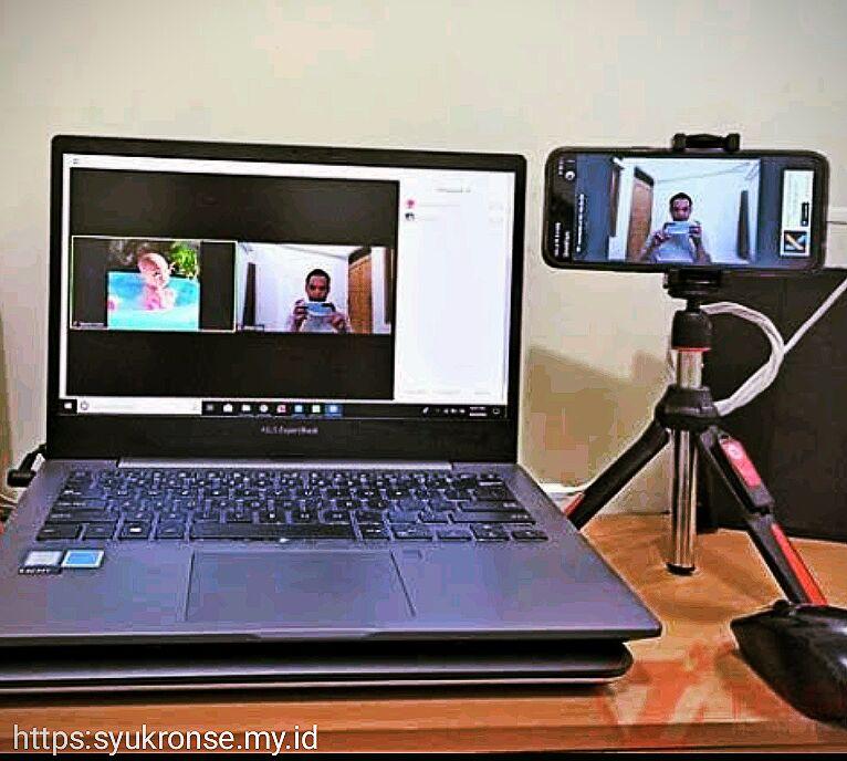 Kamera HP di jadikan webcam untuk Zoom PC