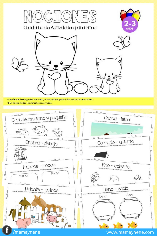 NOCIONES-PREESCOLAR-INFANTIL-RECURSOS-EDUCACION-IMPRIMIBLES-MAMAYNENE-KINDER-KIDS