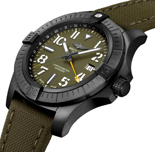 Review the Breitling Avenger Automatic GMT 45 Night Mission Limited Edition replica