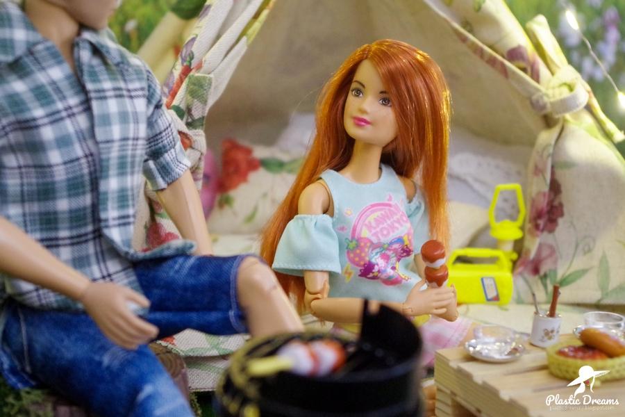 barbie et ken en camping