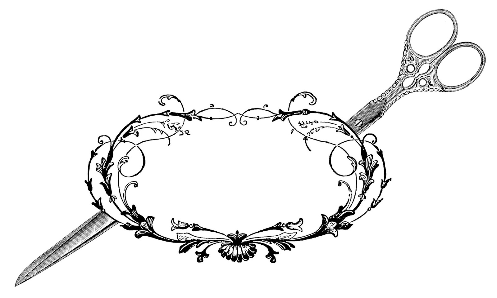 The Graphics Monarch Sewing Scissors Decorative Frame