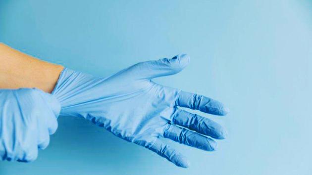 Gambar Cara pemakaian pelindung tangan