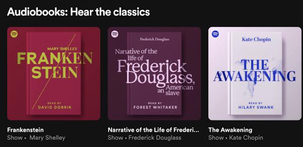 Spotify está a lançar secção de audiolivros com nove clássicos