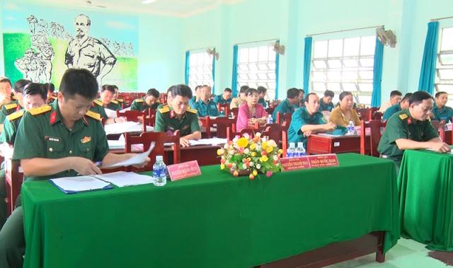 Thành phố Bến Tre khai mạc Hội thi Chỉ huy trưởng Ban Chỉ huy quân sự xã, phường năm 2020