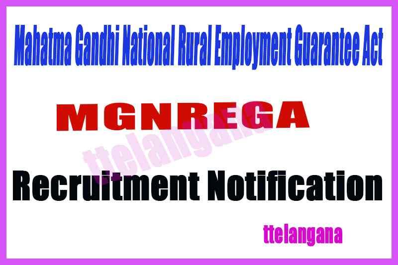 Mahatma Gandhi National Rural Employment Guarantee Act MGNREGA Recruitment Notification
