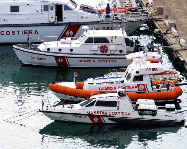 Motorboats of the Coast Guard, Old Port, Livorno