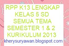 File Pendidikan RPP k13 Kelas 5 Semua Tema Semester 1 & 2 Revisi Terbaru 2019
