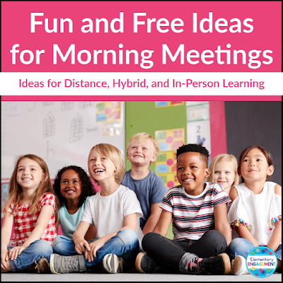 Great ideas for Morning Meetings, and they are free!