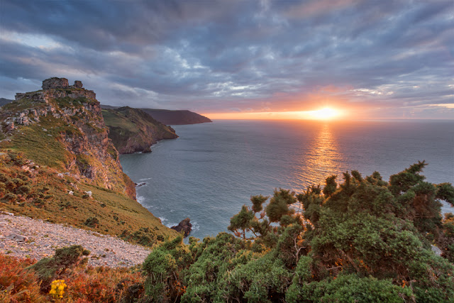 Valley of Rocks sunset in Exmoor National Park by Martyn Ferry Photography