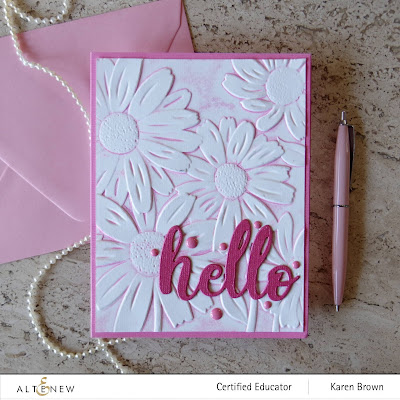 Altenew 3D embossing folder how to