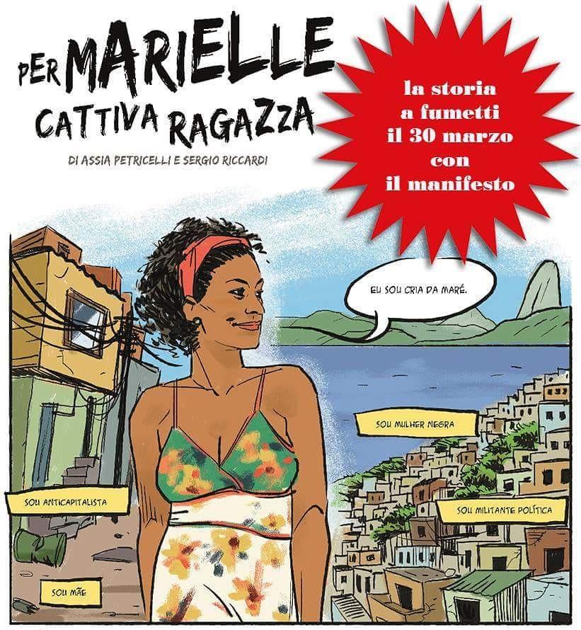 Italianos homenageiam Marielle Franco com história em quadrinhos