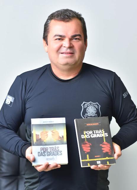 """Policial Penal do RN relança livros """"Por trás das grades I e II"""""""