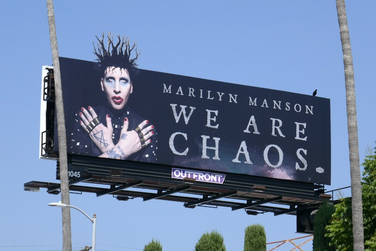 Marilyn Manson We Are Chaos extension billboard