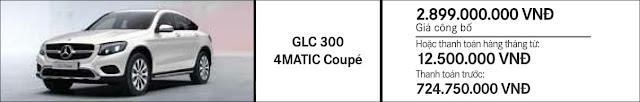 Giá xe Mercedes GLC 300 4MATIC Coupe 2018 tại Mercedes Trường Chinh