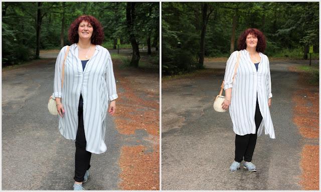 Outfit mit Hemdblusenkleid