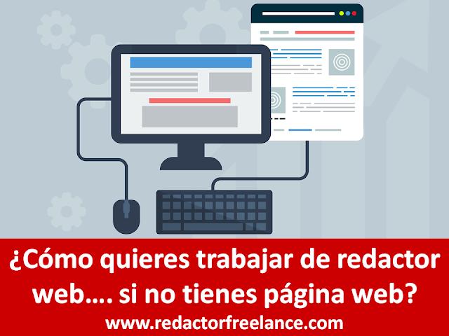 Cómo quieres trabajar de redactor web si no tienes página web