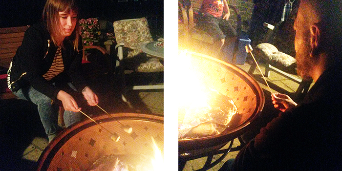 A summer BBQ and fire pit
