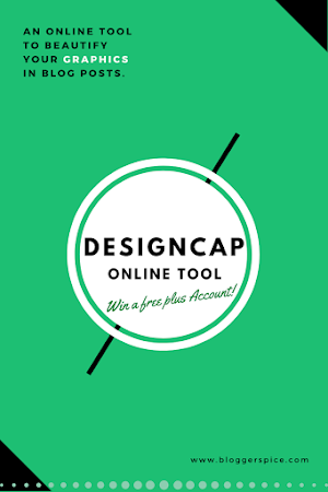 DesignCap - An Online Tool to Beautify Your Graphics in Blog Posts [Win Free Plus Account For One Year]