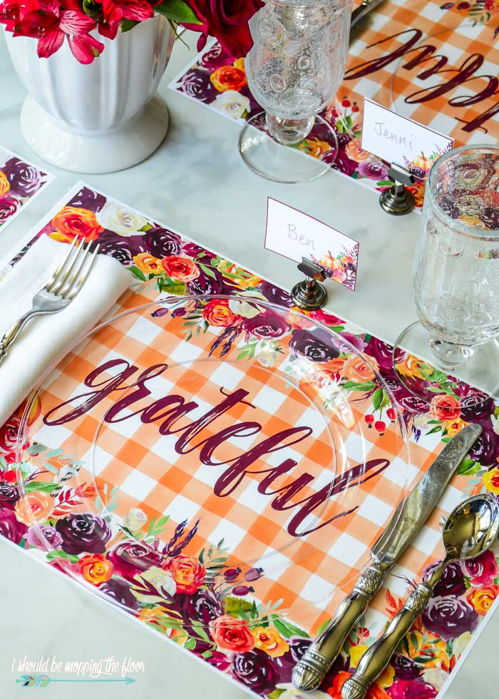 Printanle Fall Placemats