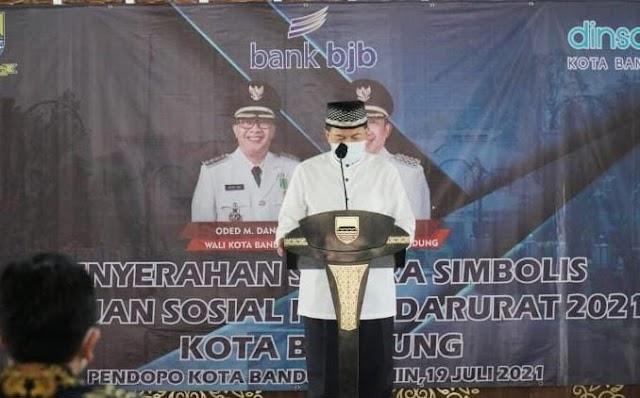 Pemkot Bandung Gandeng Bank bjb Salurkan Bansos Tunai  Covid-19 Melalui Aplikasi SFT