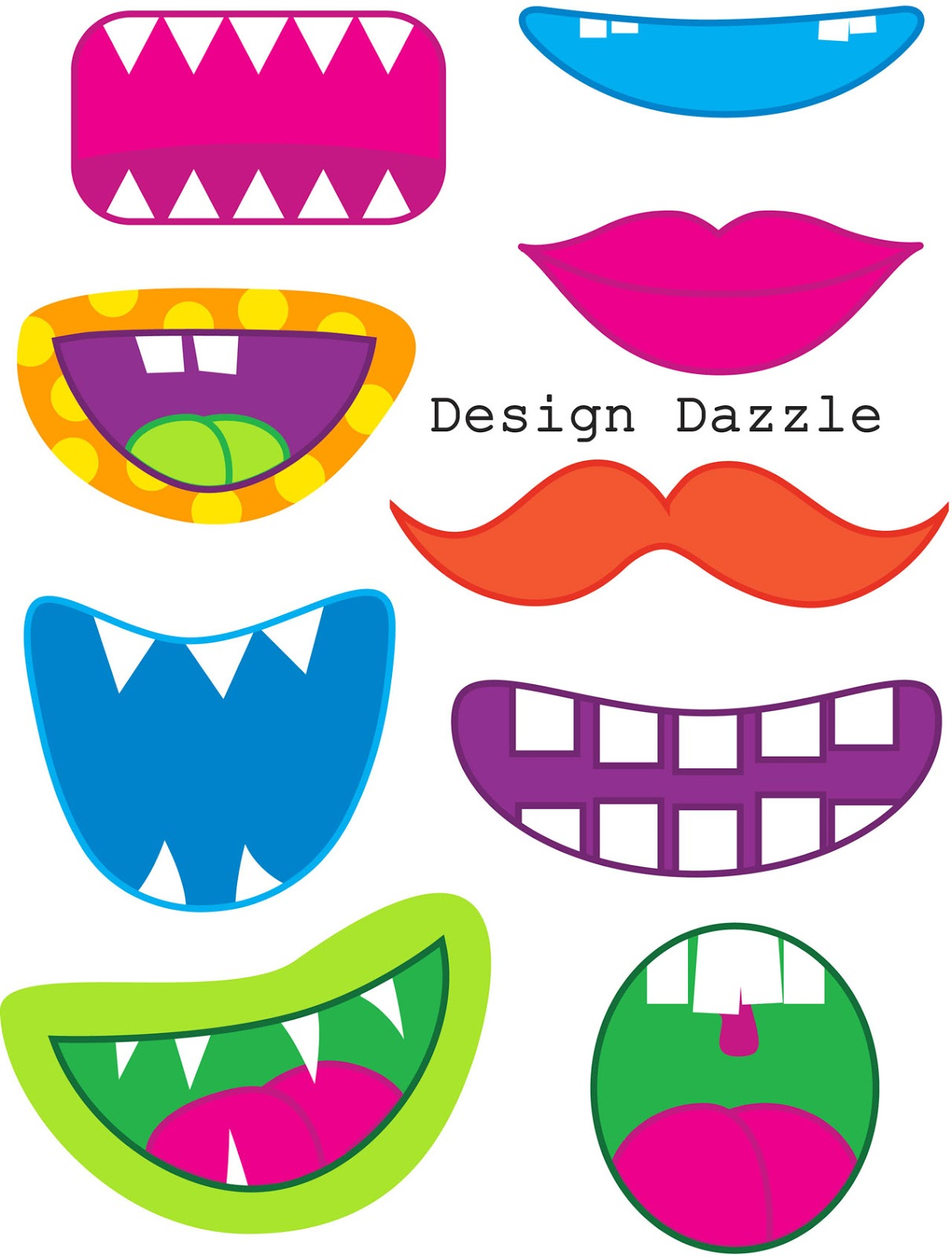 Free Printable Photobooth Props