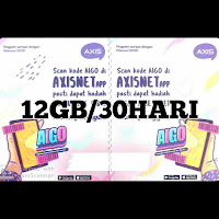 Voucer Axis 12GB/30HARI