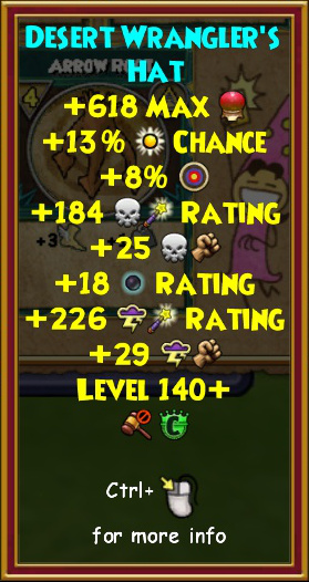 Wizard101 Great Sky Train Robbery Pack Level 140 Gear