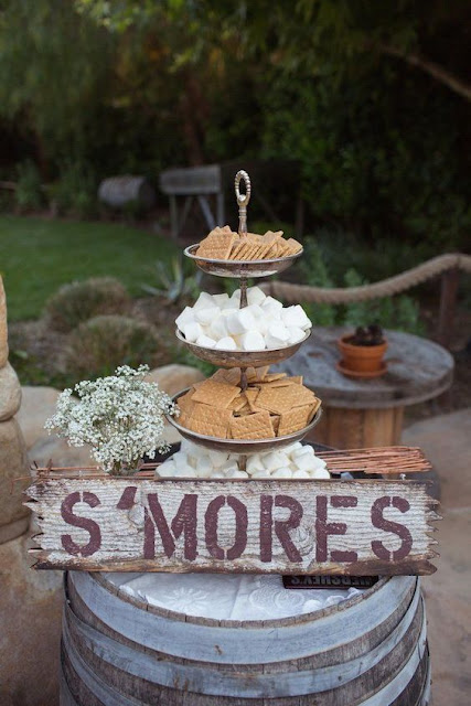 s'mores wedding station