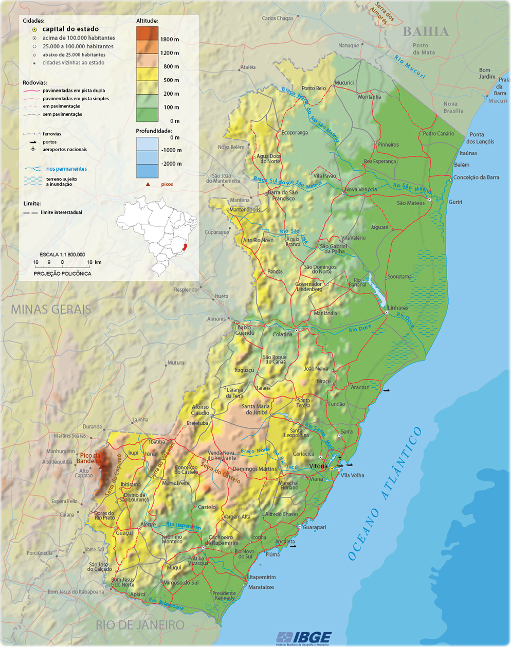Mapas do Estado do Espírito Santo