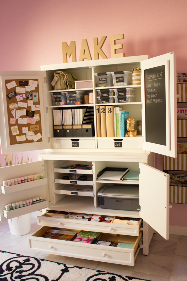 My Pink Office And Craft Room Reveal Design Improvised